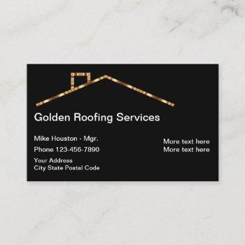 classy roofing real estate business card