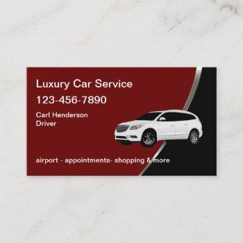 classy taxi car service business card