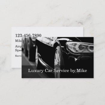 classy taxi service luxury transportation business card