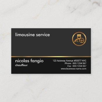 clean plain simple professional modern chauffeur business card