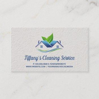 cleaning service   maid cleaning   house logo business card
