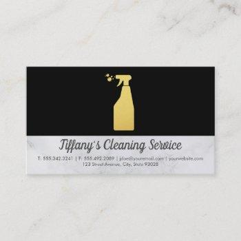 cleaning service | maid cleaning spray business card