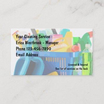 cleaning service professional business card