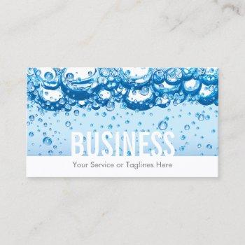 cleaning service professional water & bubbles bold business card