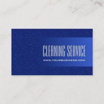 cleaning service - water drops business card