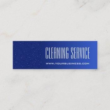 cleaning service - water drops mini business card
