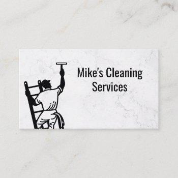 cleaning service   window cleaner logo business card