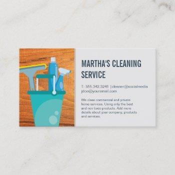 cleaning services   supplies for cleaning business card