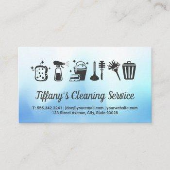 cleaning supplies and house keeping service business card