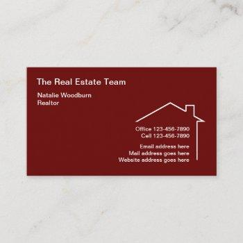 clever modern house symbol real estate business card