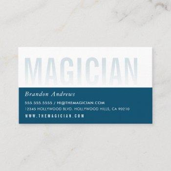 clever ombre fade text minimal modern dark blue business card