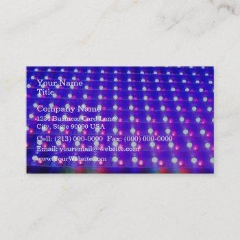 close up of led lights business card