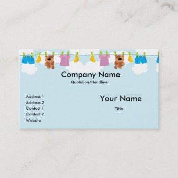 clothesline business cards