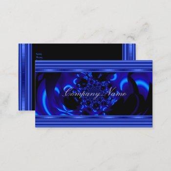 cobalt blue metal abstract business card black