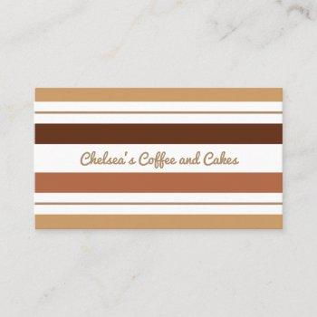 coffee and chocolate stripes business card