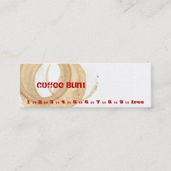 coffee burn mini business card