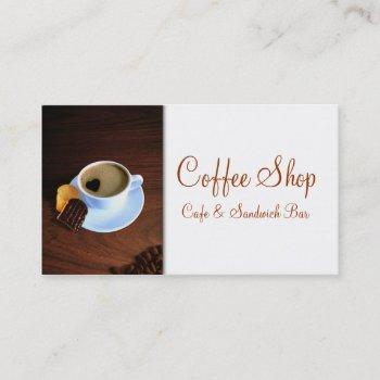 coffee cup with heart shaped foam business card