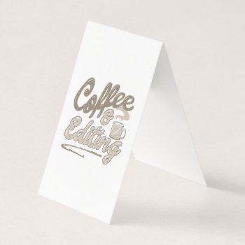 coffee & editing video photo editor photographer business card