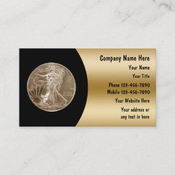 coin collector business cards