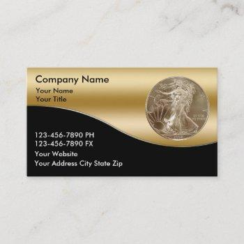 coin dealer business cards