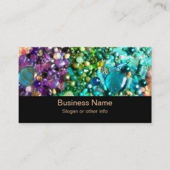 collection of colorful beads business card