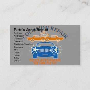 collision auto repair business cards