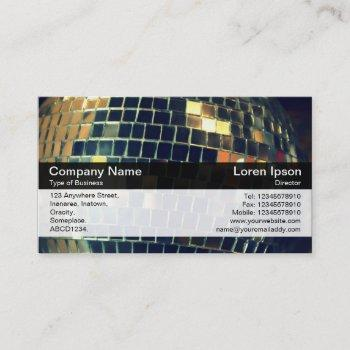 color band - black - mirror ball business card