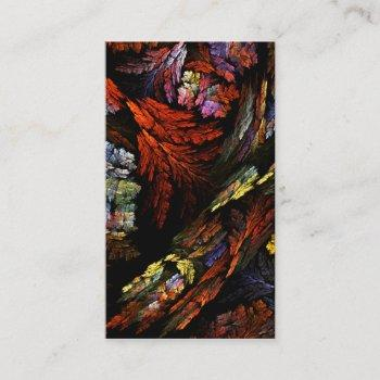 color harmony abstract art business card