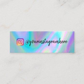 color shift holographic mini business card