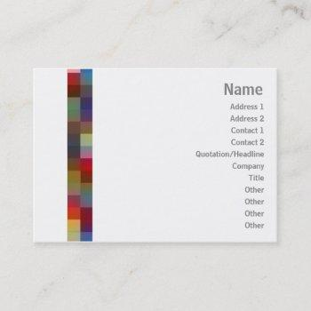 color squares - chubby business card