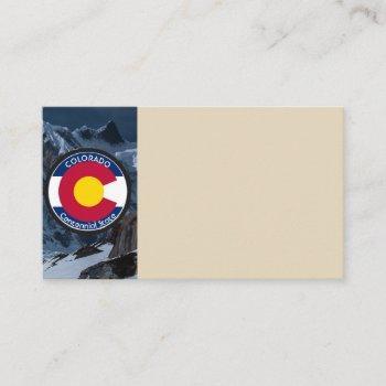 colorado circular flag business card