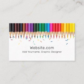 colored pencils and sprinkles   artists business card