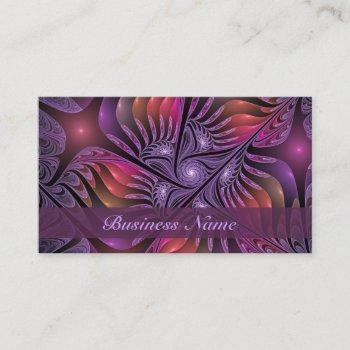 colorful fantasy abstract modern purple fractal business card