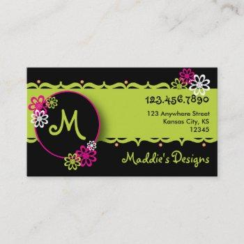 colorful, fun designer card