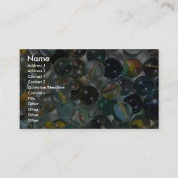 colorful glass marbles business card