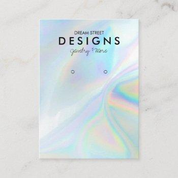 colorful holographic trendy earring display card