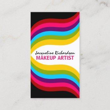 colorful makeup artist business card