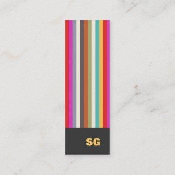 colorful stripes mini business card