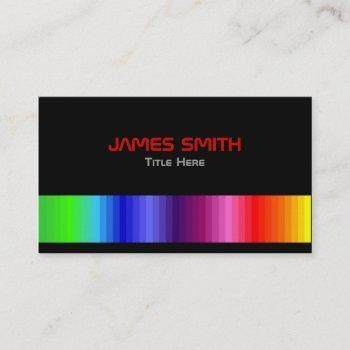 colour spectrum business card