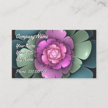 colourful lotus flower - fractal impression. business card