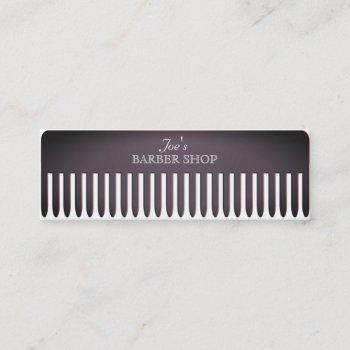 comb hair salon funny professional cover mini business card