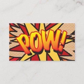 comic book pop art pow! business card