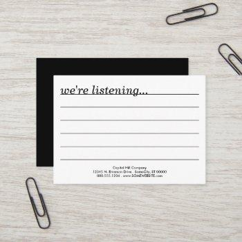 comments? business card