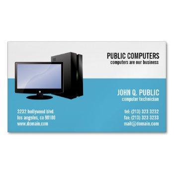 computer repair magnetic business cards