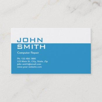 computer repair modern professional plain simple business card