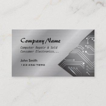 computer repair sold circuit board business cards