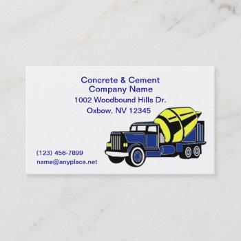concrete and cement company business card