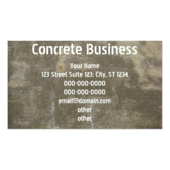 Small Concrete Business Card Front View