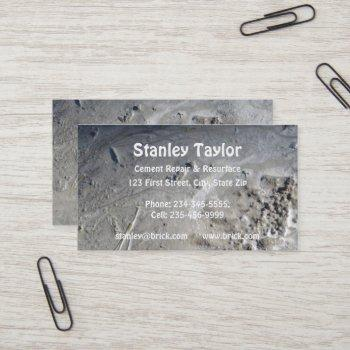 concrete & cement solutions custom business card