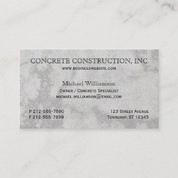 concrete specialist business cards